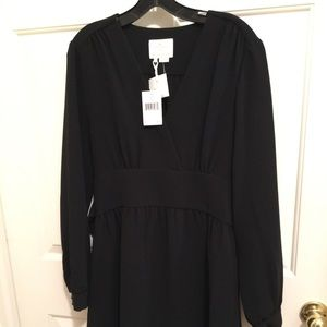 NWT AUTHENTIC KATE ♠️ BLACK TIE WAIST BLACK DRESS